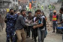 Nepal Earthquake 2015 Carrying Patient